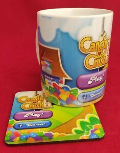 Candy Crush Ceramic Mug + Coaster with or without personalisation Ideal Gift UK
