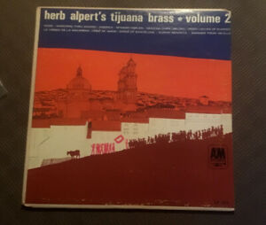 """HERB ALPERT'S TIJUANA BRASS RARE VOL 2""1963 VINYL V/G LP A&M RECORDS IMPORT"