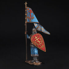 Tin Soldier, Russian warrior with a banner, 13th century, 54 mm