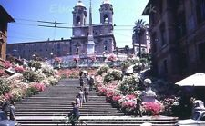 "Spanish Steps ""Trinita dei Monti"" Church Rome Italy 1958 Kodak Red Border Slide"