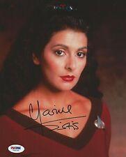 Marina Sirtis Signed Star Trek 8x10 Photo PSA/DNA COA The Next Generation Auto'd
