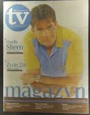 CHARLIE SHEEN  great magazine FRONT cover, Poland  No.188