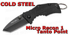 Cold Steel MICRO RECON 1 Tanto Point Folding Knife Plain Edge Tri Ad Lock 27TDT