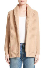V809 NWT VINCE RIB WOOL CASHMERE CAR COAT WOMEN CARDIGAN SIZE S $475