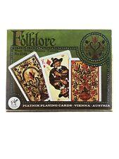 Vintage Piatnik Folklore (2) Deck Playing Cards Poker Bridge Rummy Canasta