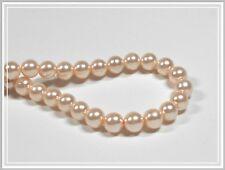 50 Glaswachsperlen Glass Pearls 8mm cremefarben creme cremefarben