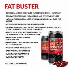 LA Muscle Fat Buster  Quad action fast-acting natural fat burner