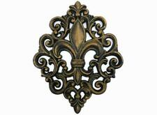 Cast Iron Fleur De Lis Wall Plaque, Metal Art, Old World, Tuscan, Kitchen French