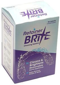 Retainer Brite 96 Tablets-Retainer Cleaner, Aligner Cleaner, Denture/mouthguards