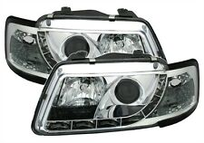 PHARES FEUX AVANT AV DEVIL EYES CHROME AUDI A3 8L 1996-2000 AMBITION