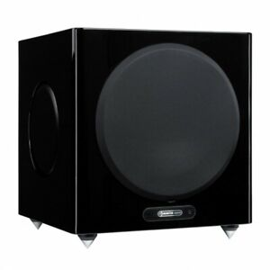 SUBWOOFER ATTIVO MONITOR AUDIO GOLD W12 5G PIANO GLOSS BLACK CASSE SPEAKERS