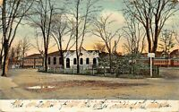 ROSELLE NJ~ROSELLE RAILROAD STATION OF C.R.R. OF NEW JERSEY 1911 PMK POSTCARD