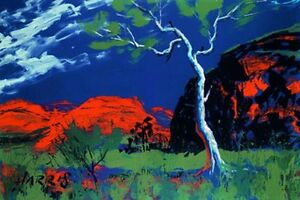 Ghost Gum and Spinifex Limited Edition Print by Rolf Harris