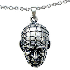 HELLRAISER PINHEAD Antagonist PEWTER PENDANT w Stainless steel Chain Necklace