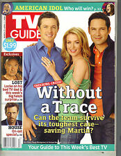POPPY MONTGOMERY TV Guide Magazine 3/27/06 AMERICAN IDOL LOST HOUSE