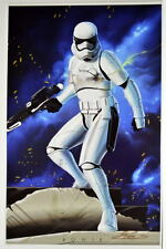 Star Wars: Force Awakens STORM TROOPER Blue Print HAND SIGNED Damon Bowie w COA