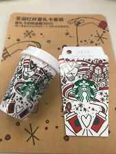 Rare New China 2017 Starbucks Christmas Red cup Star gift CARDS and Key chain