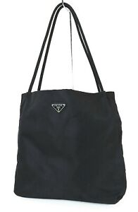 Authentic PRADA Black Nylon Tote Hand Bag Purse #40283