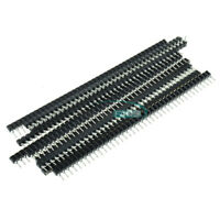 20PCS 40Pin 2.54mm Single Row Round Female Pin Header Socket gold plated