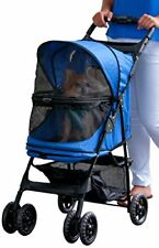 Rosewood Happy Trails No-Zip Pet Dog Stroller Pram Buggy Sapphire Blue