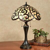 YaVonne Stained Glass Table Lamp Ivory Each with CFL Bulb