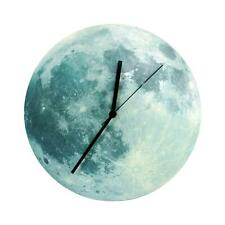 30cm Glowing Moon Wall Clock Waterproof Pvc Acrylic Luminous Hanging Clock Best