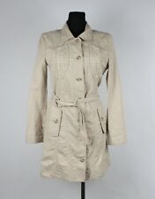 Marc Cain Women Linen Jacket Coat Size 2, Genuine