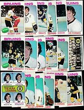 1975 Topps Team SET Lot of 18 Boston BRUINS NM/MT Bobby ORR ESPOSITO O'REILLY
