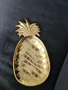 Ananas Schale Gold Butlers
