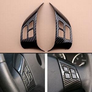 Carbon Fiber Steering Wheel Button Cover Trim Fit For BMW 3 Series E90 X1 E84