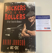 Brian Johnson Autographed Book Psa/dna Certified