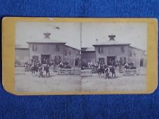 Minneapolis MN/Brown's Stable-Horses-Workers-Fences-Cupola/Upton Stereoview