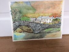 SIGNED DOROTHY HOLMAN UNMOUNTED WATERCOLOUR - BORROWDALE LAKE DISTRICT