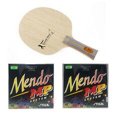 Nittaku Kasumi Basic + Stiga Mendo Rubbers Table Tennis Racket Combo!