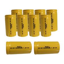 10 x Sub C NiCD SC2200mAh 1.2V Ni-Cd Rechargeable Battery NO Tabs Flat Top