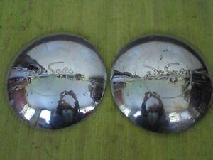 46 47 48 DeSoto Hub Caps Set of 2 Dog Dish Hubcaps 1946 1947 1948