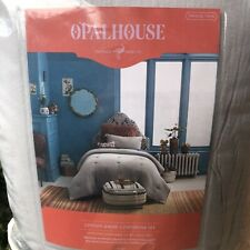 Opalhouse Cotton Gauze Comforter And Tassel Sham Set Gray Twin Twin Xl