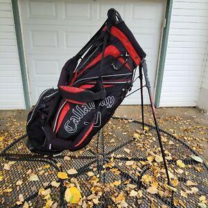 Callaway Golf Bag Stand Tripod 6-way Divider 7 Pockets Black w Red (Diablo Edge)