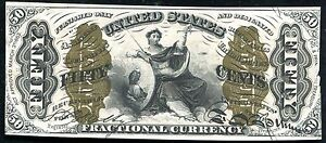"FR. 1358 50 FIFTY CENTS THIRD ISSUE ""JUSTICE"" FRACTIONAL CURRENCY UNCIRCULATED"