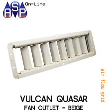 FAN OUTLET GRID TO SUIT VULCAN QUASAR WALL FURNACE - ALMOND