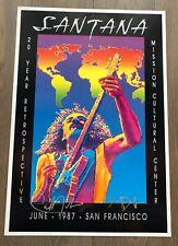 Carlos Santana Poster - June 1987, Signed