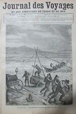 JOURNAL DES VOYAGES N° 150 de 1880 AMERIQUE SAUVETAGE EN MER du KIHAMEY
