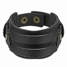 Bracelet Homme en Cuir Noir Ceinture