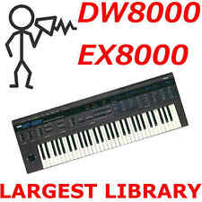 Korg DW 8000 EX 8000 Largest Patch Sound Program Library + 5 Banks of new sounds