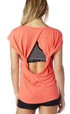 NWT WOMENS FOX RACING CONTROVERSY TWIST BACK KEYHOLE TOP SHIRT TEE L LARGE NEW