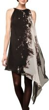 Max Studio Ltd Silk Astral Printed Drape Shoulder Georgette Party Dress S 8 10