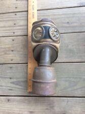 Vintage Gas Mask WWII Era 1938, W/ Cardboard Case , Yellow Tint Eyes, Steampunk