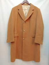 Vintage Gould's Cashmere Coat Beige Tan Union Made in USA Luxurious Silky Lining