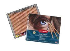 Derwent Lichtecht Profi-Qualität Künstler Öl Basis Farbe Stifte 24 Zinn Set