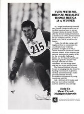 Jimmy Heuga Olympic skier 1-page clipping 1988 ad for Multiple Sclerosis Society